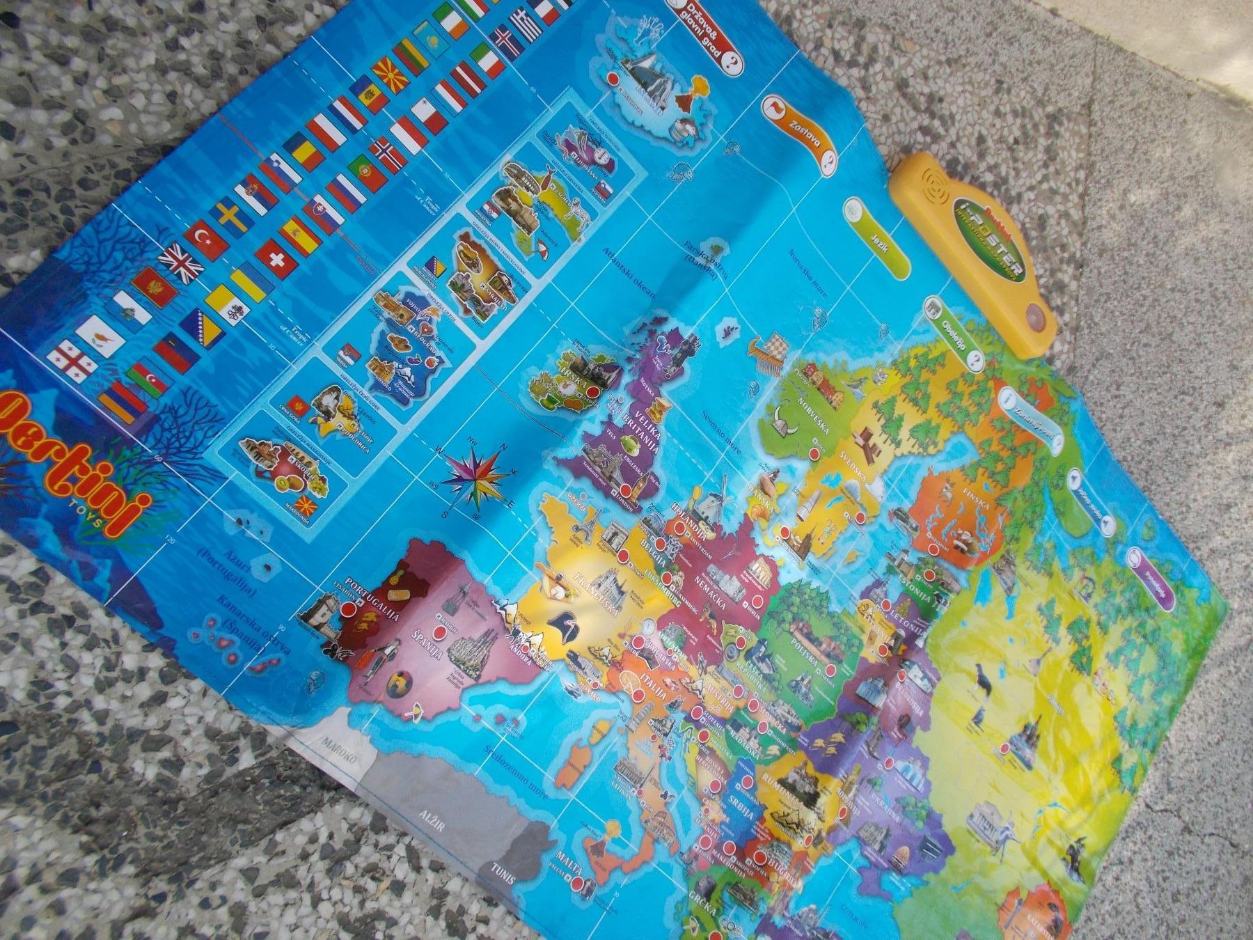 Pertini Elektronska Mapa Evrope 69346737 Limundo Com