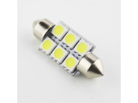1x Festoon 36mm 6-SMD 5050 LED - Bela