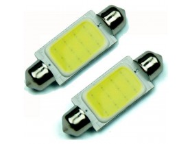 2x 42mm Festoon COB 12 Chips DC 12V LED