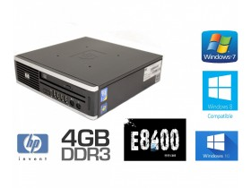 HP 8000 elite ultra slim 2 x 3.0 gh ddr3 win 7 pro lic