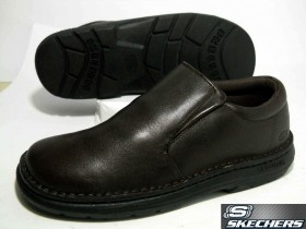 SKECHERS-LEATHER UPPER BALANCE!