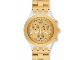 ***SWATCH*** Full Blooded Gold Chrono - SWISS MADE