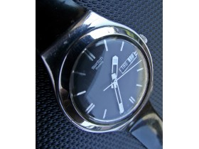***SWATCH*** Irony Steel Day/Date - SWISS MADE