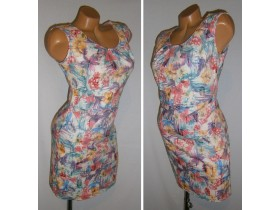 *TREND UP* stretch haljina sa floral printom vel.36