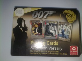 007 playing cards 50th unniversary Limited edition No.0