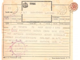 1944 GOD.-MAĐARSKI TELEGRAM-NOVI SAD