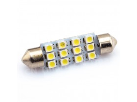 1x 41mm 12SMD LED Festoon - Bela