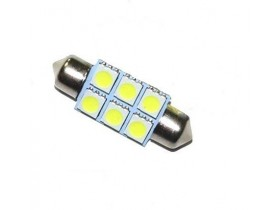 1x Festoon 39mm 6-SMD 5050 LED