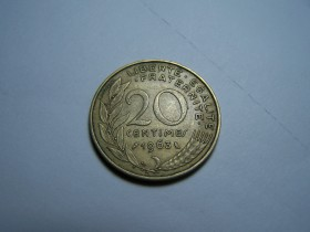 20 CENTIMES 1963