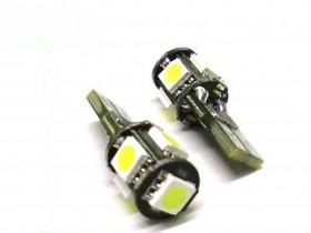 2x T10 W5W 5 SMD LED 5050 Canbus