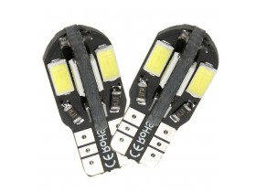 2x T10 W5W 8 SMD LED 5730 Canbus