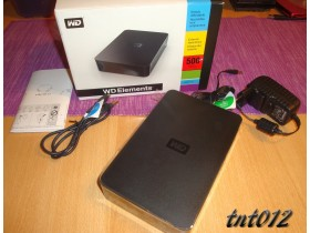 == WESTERN DIGITAL EXTERNI HARD DISK 500Gb NOVO ==