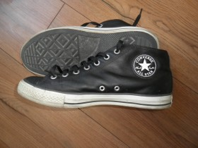 ALL STAR, Converse, crne, kožne, original, br 44