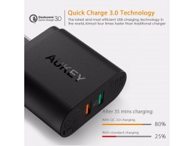 AUKEY USB brzi punjač 34.5W Qualcomm QuickCharge 3.0