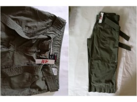 BERMUDE  H&M   38/ M  baggy casual  100 % cotton  NOVE