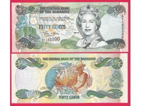 Bahamas -1/2.Fifty cents 2001.Godina-UNC.