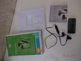 Bluetooth in-ear headset ISY + FM trans.