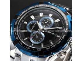 CURREN Fashion Blue Dial Stainless Steel Analog Quartz