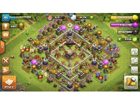Clash of clans MAX Th11 AQ45/BK45/GW20