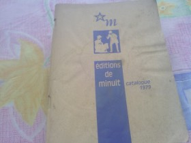 Editions de minuit - catalogue 1979