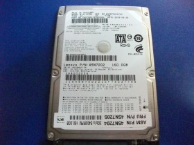 "HDD 2.5"" 160GB Lenovo  100% health"
