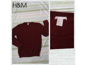 H&M KAO NOV BORDO DzEMPER -  S !!!!!!