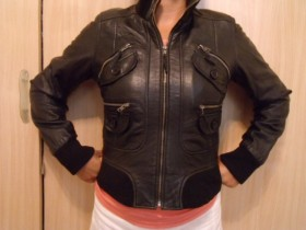 LEATHER LAND zenska kozna jakna XL-EXTRA OCUVANA