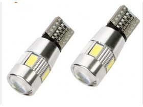 LED T10 W5W Canbus 6 SMD-Xenon bele