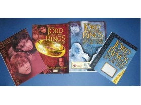 LORD OF THE RINGS plavi i crveni glanc prazni albumi
