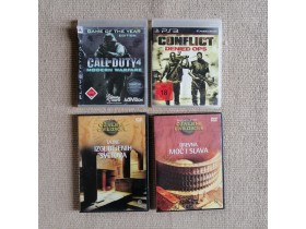 LOT Call of DUTY 4 +Conflict za PS3 +2 gratis