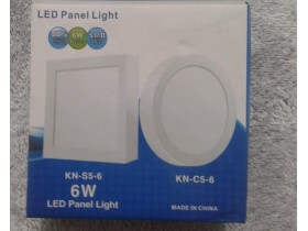 Led panel light 6w, nov, neotpakovan