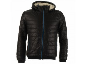 Lee Cooper Sherpa Lined Padded Jacket Mens