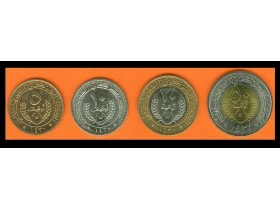 MAURITANIA 5-10-20-50 Ouguiya 2009-2010 UNC set of 4 co