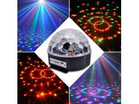 MP3 disko led kugla + USB + daljinski