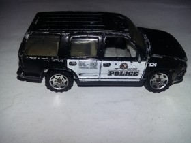 Matchbox `97 Chevy Tahoe Police Patrol Squad
