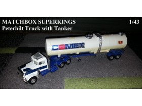 Matchbox Super Kings Peterbilt Truck and Tanker 1/43