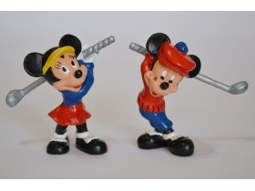 Mickey  Minnie Mouse golfers bully Germany handpainted