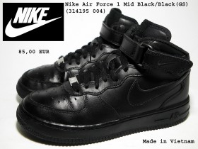 Nike Air Force 1 Mid Black/Black,MOCNE!