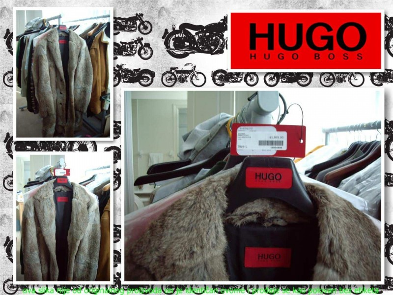Original Hugo boss fur coat - red label
