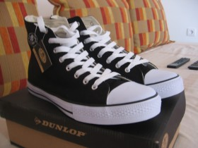 "PATIKE ""DUNLOP"" MENS CANVAS HIGH TOP TRAINER"