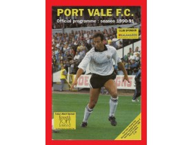PROGRAM- PORT VALE-BRISTOL C.  1990 -32 STR.