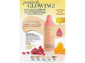 PUDER AVON BRIGHT START FOUNDATION