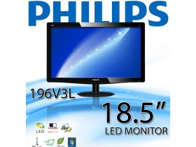 Philips 196V3L 18.5-inch V-Line LED Monitor