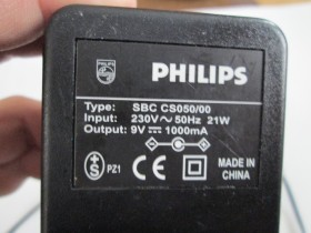 Philips 9V 1000mA adapter