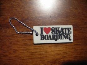 "Privezak Circa  ""I love skateboarding"""