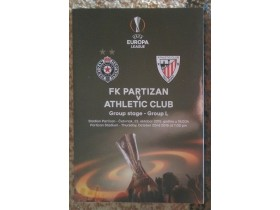Program Partizan - Athletic Club Bilbao , 22.10.2015.