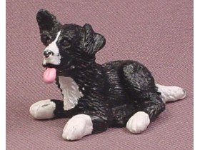 Puppy In My Pocket Border Collie Dog PVC Figure,