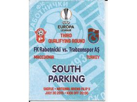 RABOTNICKI-TRABSONSPOR S.PARKING 2015