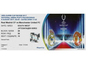 Real Madrid CF - Manchester United  - UEFA Super Cup 20