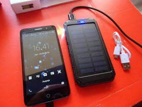 SOLARNA POWER BANK BATERIJA-PUNJAC+LED LAMPA